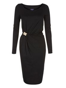 ThinHeat Jersey Dress With Gold Buckle