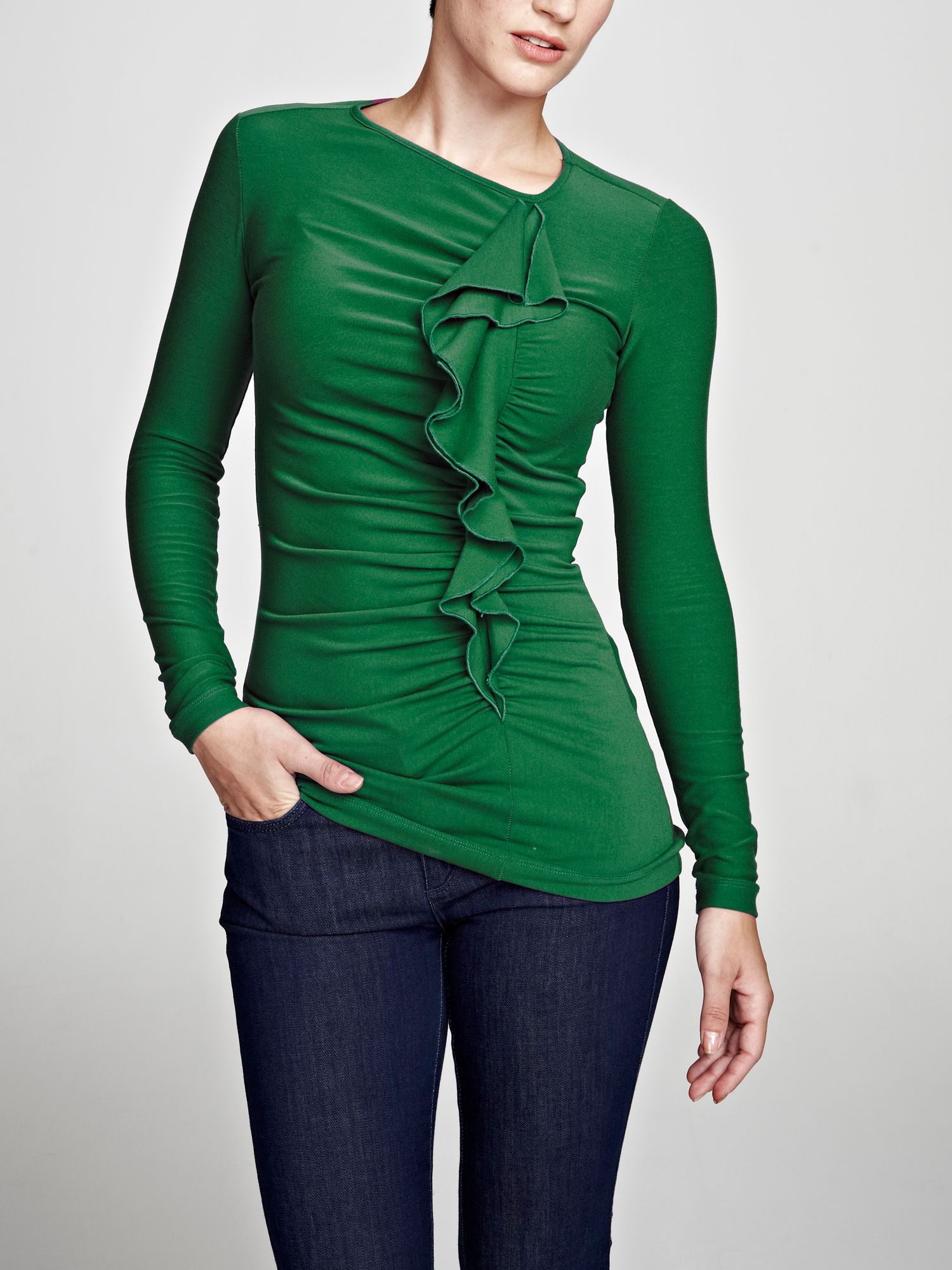 ThinHeat top with frill detail