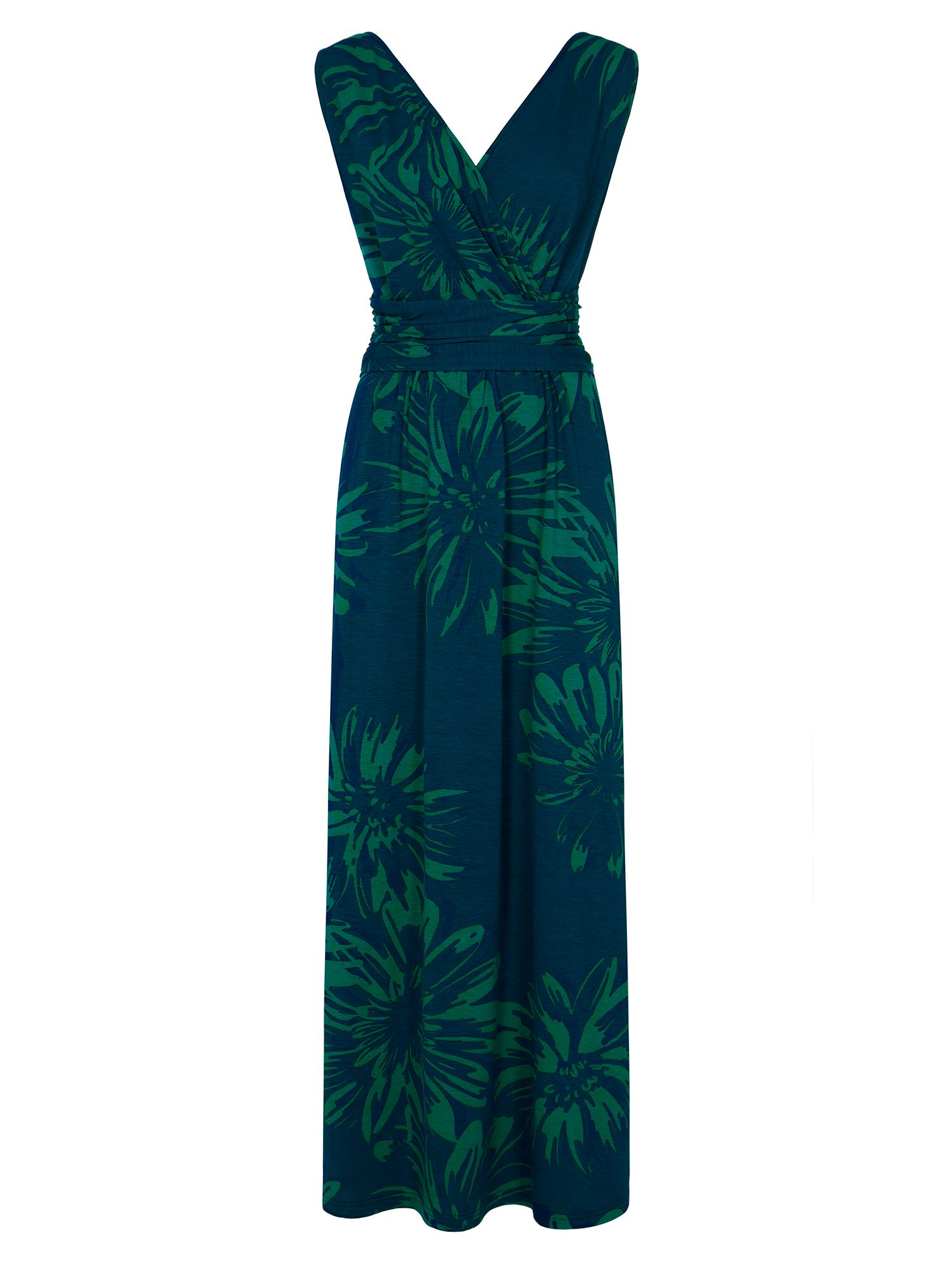 HotSquash V Neck Maxi Dress in CoolFresh, Teal