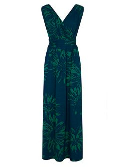V Neck Maxi Dress in CoolFresh