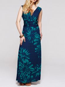HotSquash V neck maxidress in CoolFresh