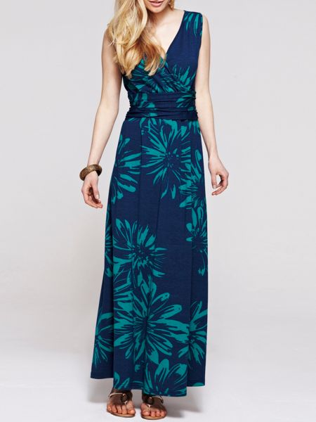 HotSquash V Neck Maxi Dress in CoolFresh