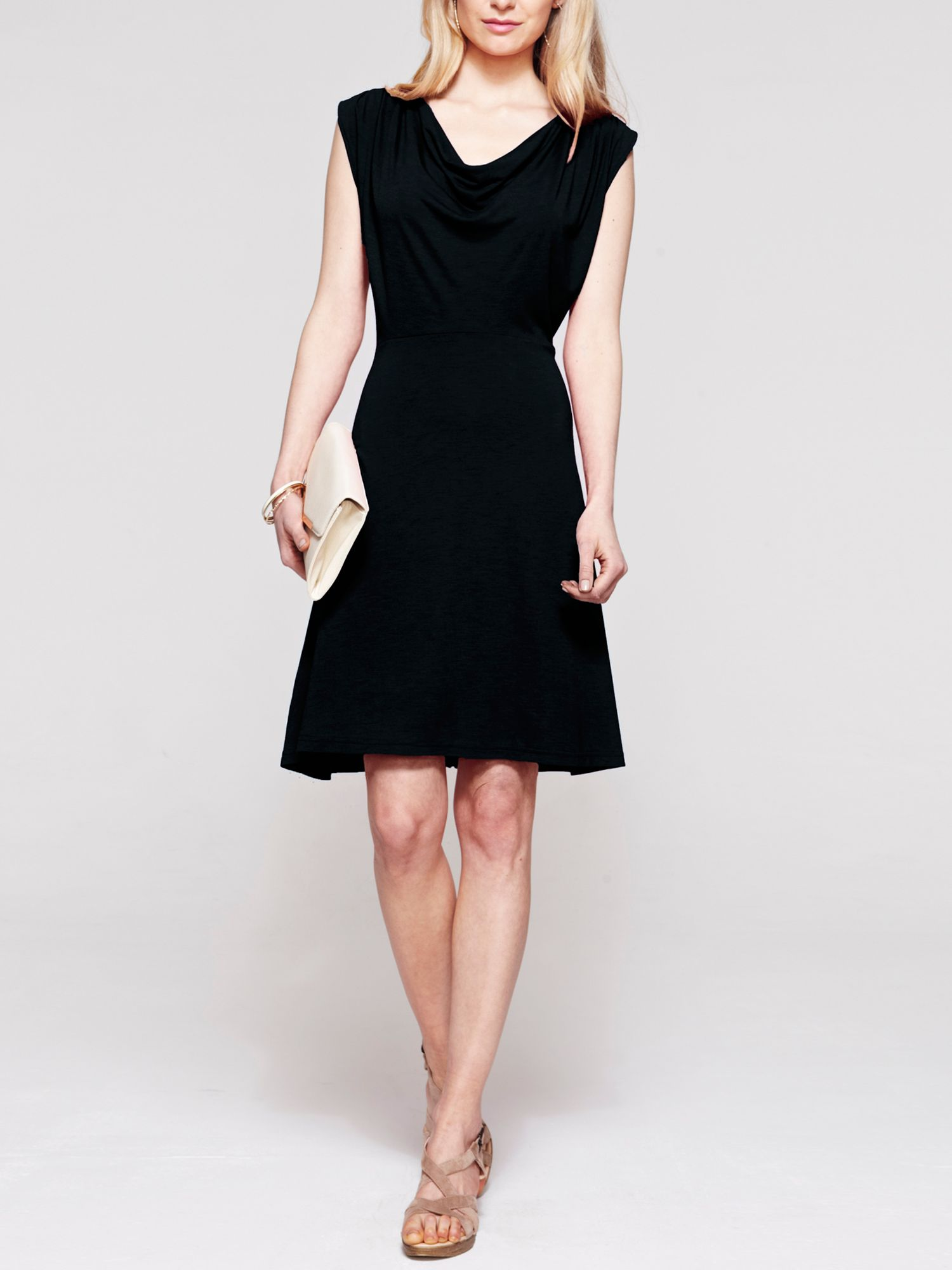 Knee length cowl dress in CoolFresh