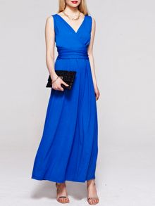 V neck maxi dress in coolfresh fabric
