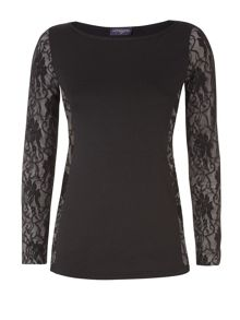 Lace insert top with ThinHeat