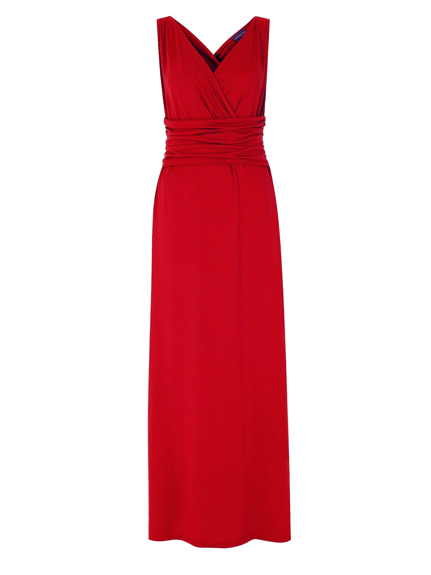 HotSquash V Neck Maxi Dress In CoolFresh Fabric, Red
