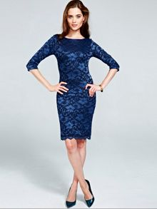 HotSquash Long sleeved lace dress with ThinHeat