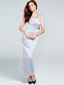 HotSquash Silky long v neck dress