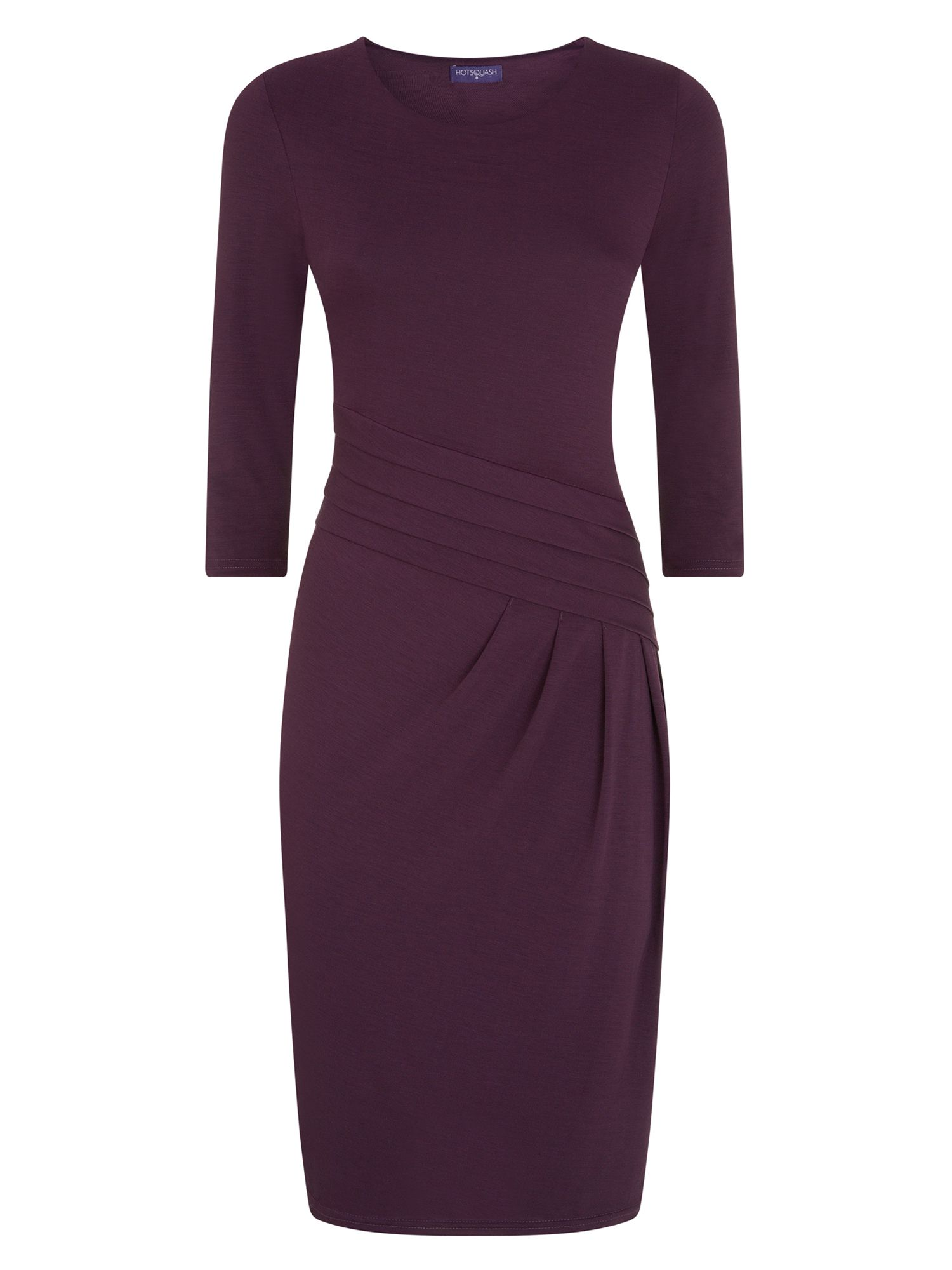 HotSquash Long Sleeved Knee length Dress, Damson