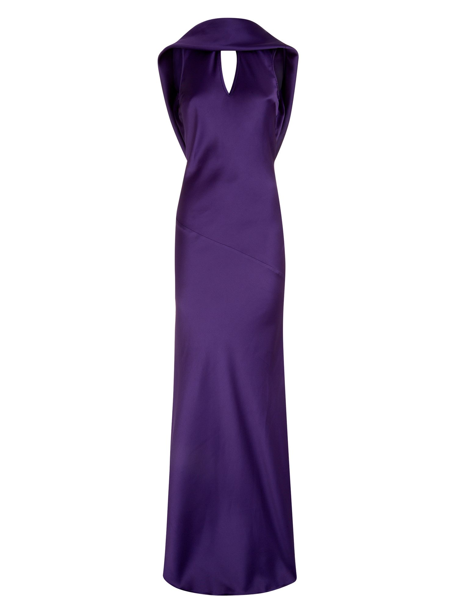 HotSquash Long dress with cowl back and front, Purple