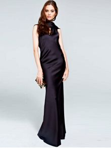 HotSquash Long dress with cowl back and front