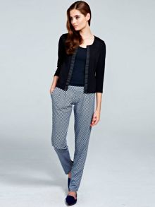 Geo print trousers with CleverTech