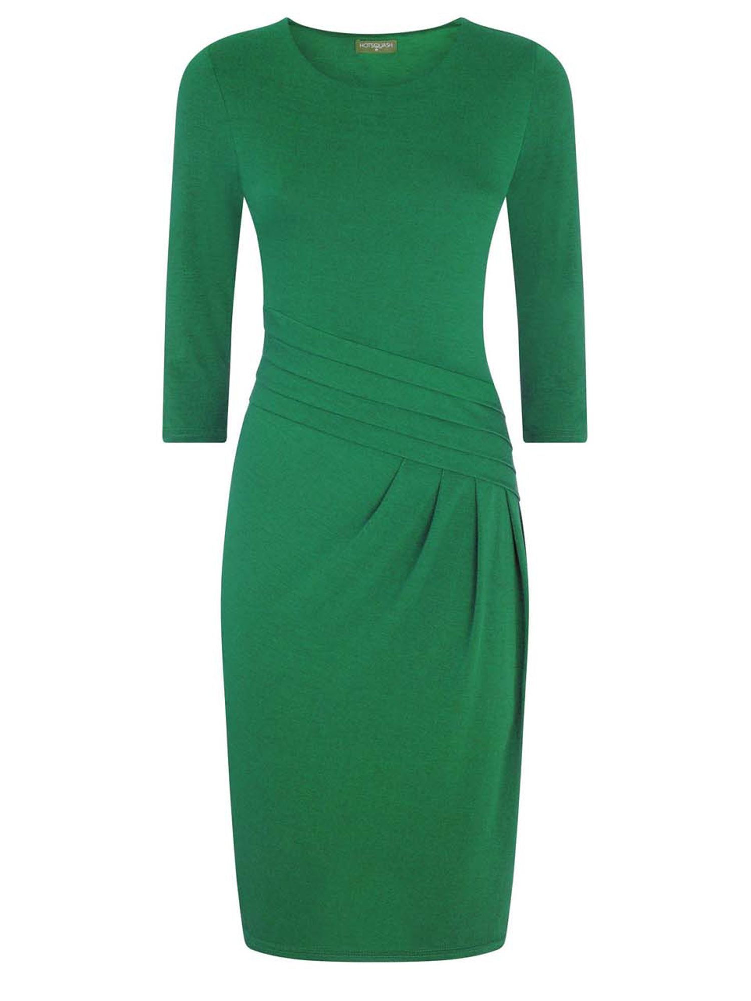 HotSquash Long Sleeved Knee length Dress, Green