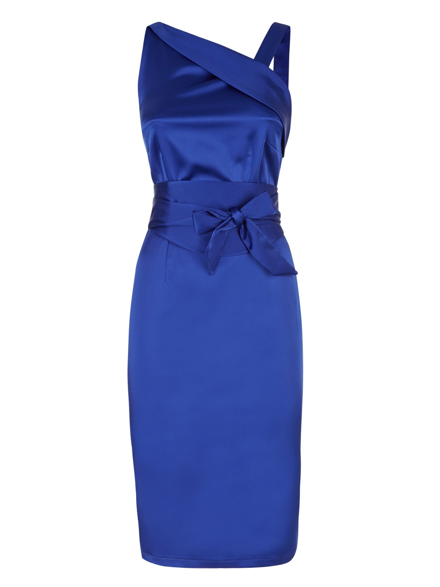 HotSquash Kneelength silk dress, Royal Blue