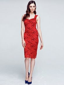 Kneelength lace dress with TempReg