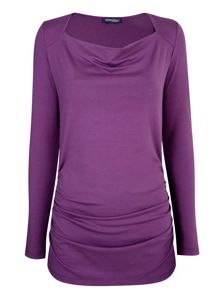 HotSquash ThinHeat close fitting cowl neck top