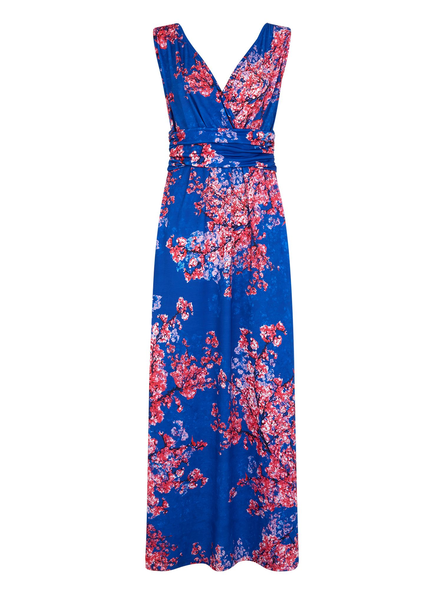 HotSquash V Neck Maxi Dress in CoolFresh, Multi-Coloured