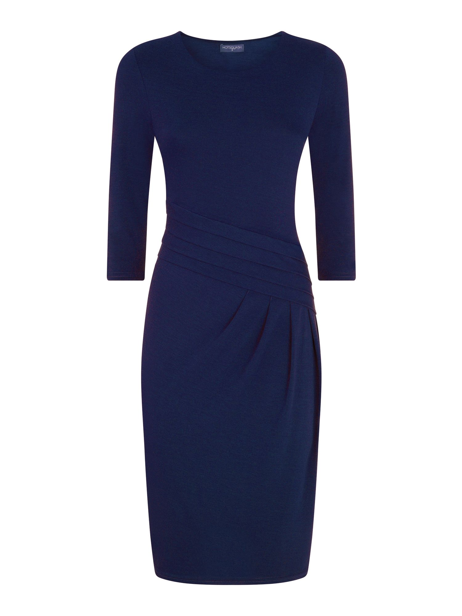 HotSquash Long Sleeved Knee length Dress, Midnight
