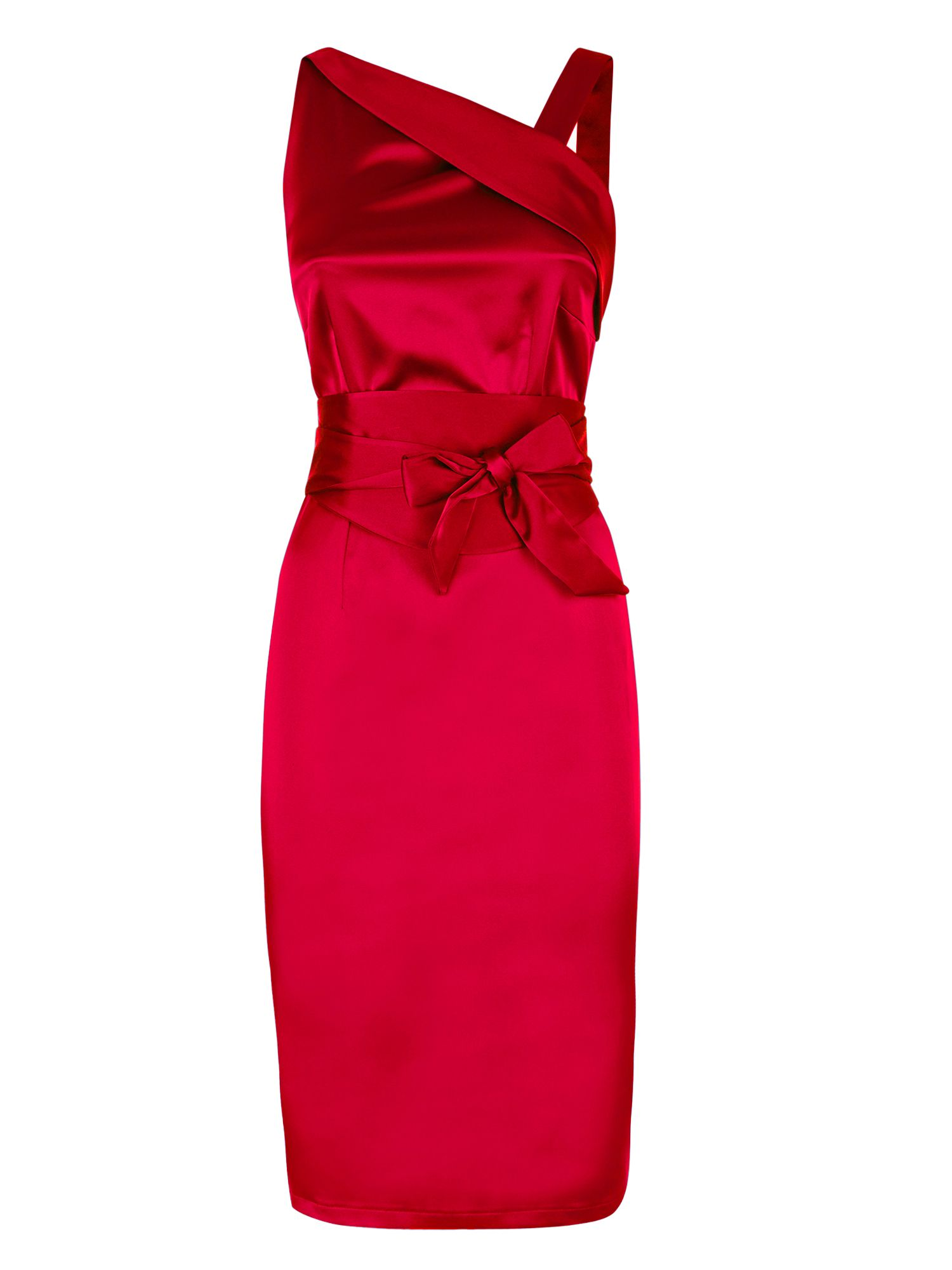 HotSquash Kneelength silk dress, Red