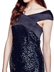 HotSquash Sequin cocktail dress with silk detail