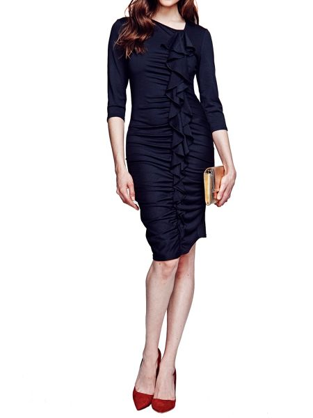 HotSquash Long sleeved dress with frill detail