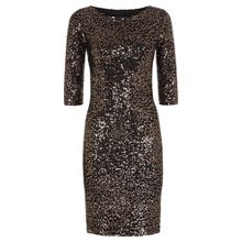 HotSquash Long Sleeved Dress With Sequin Trim