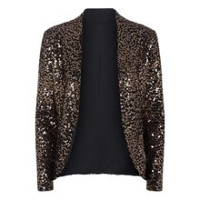 Sequin jacket with thermal lining