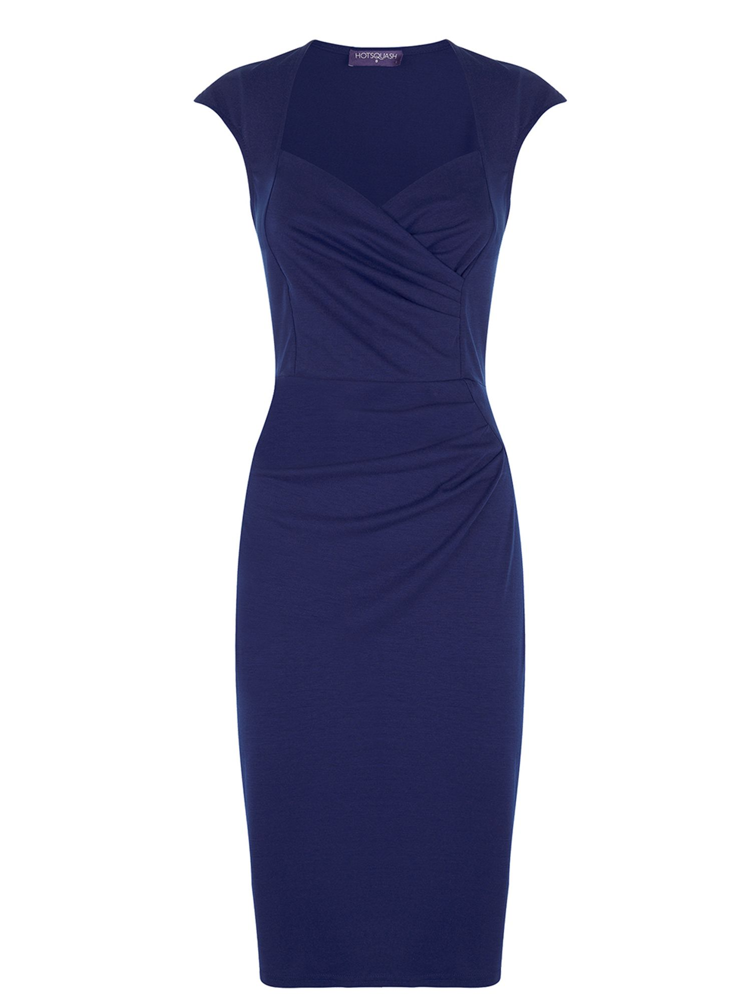 HotSquash Short sleeved dress in clever fabric, Blue