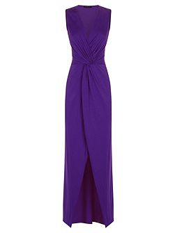 Long elegant maxi dress with knot detail
