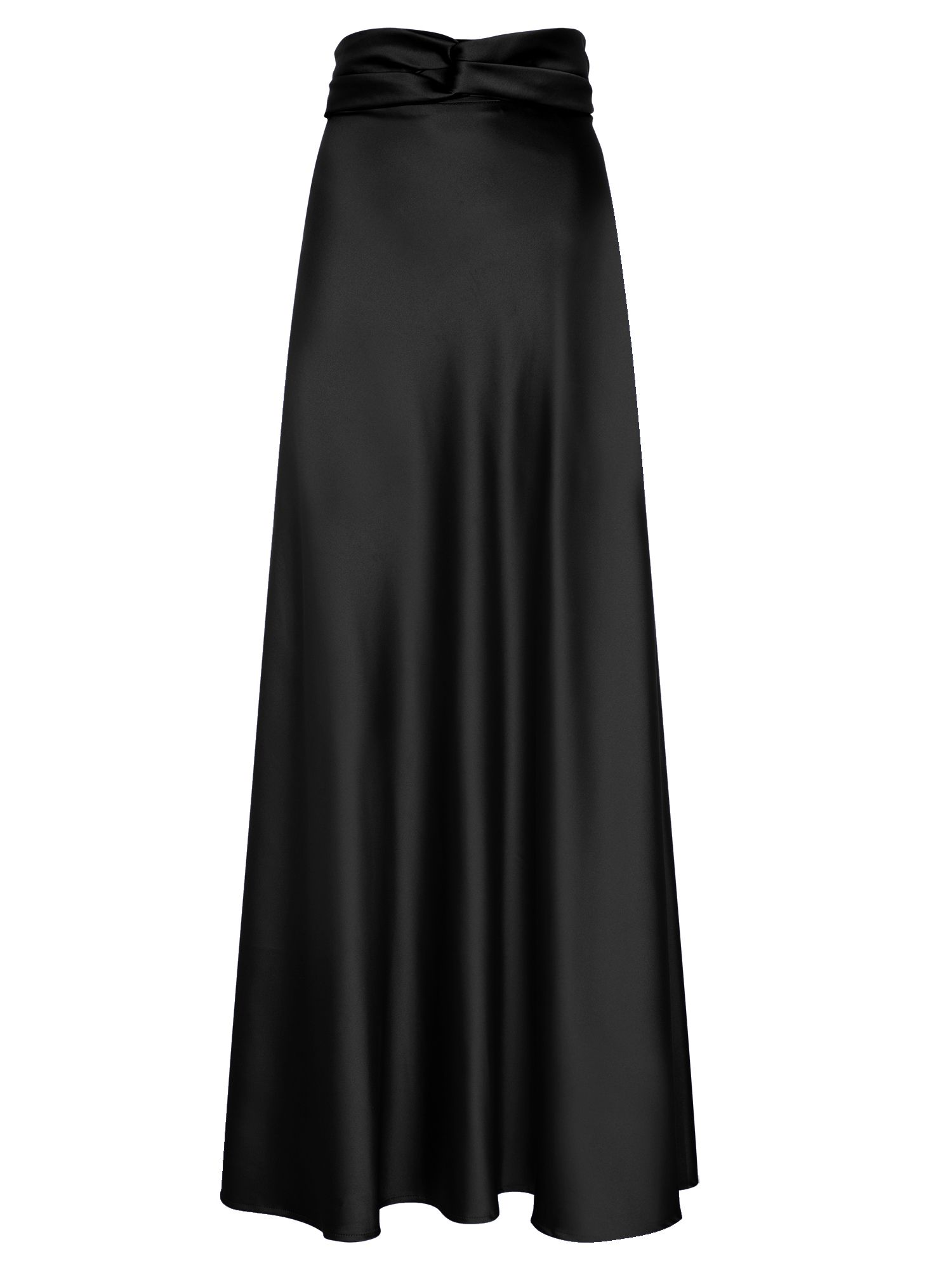 HotSquash Silky maxi skirt, Black