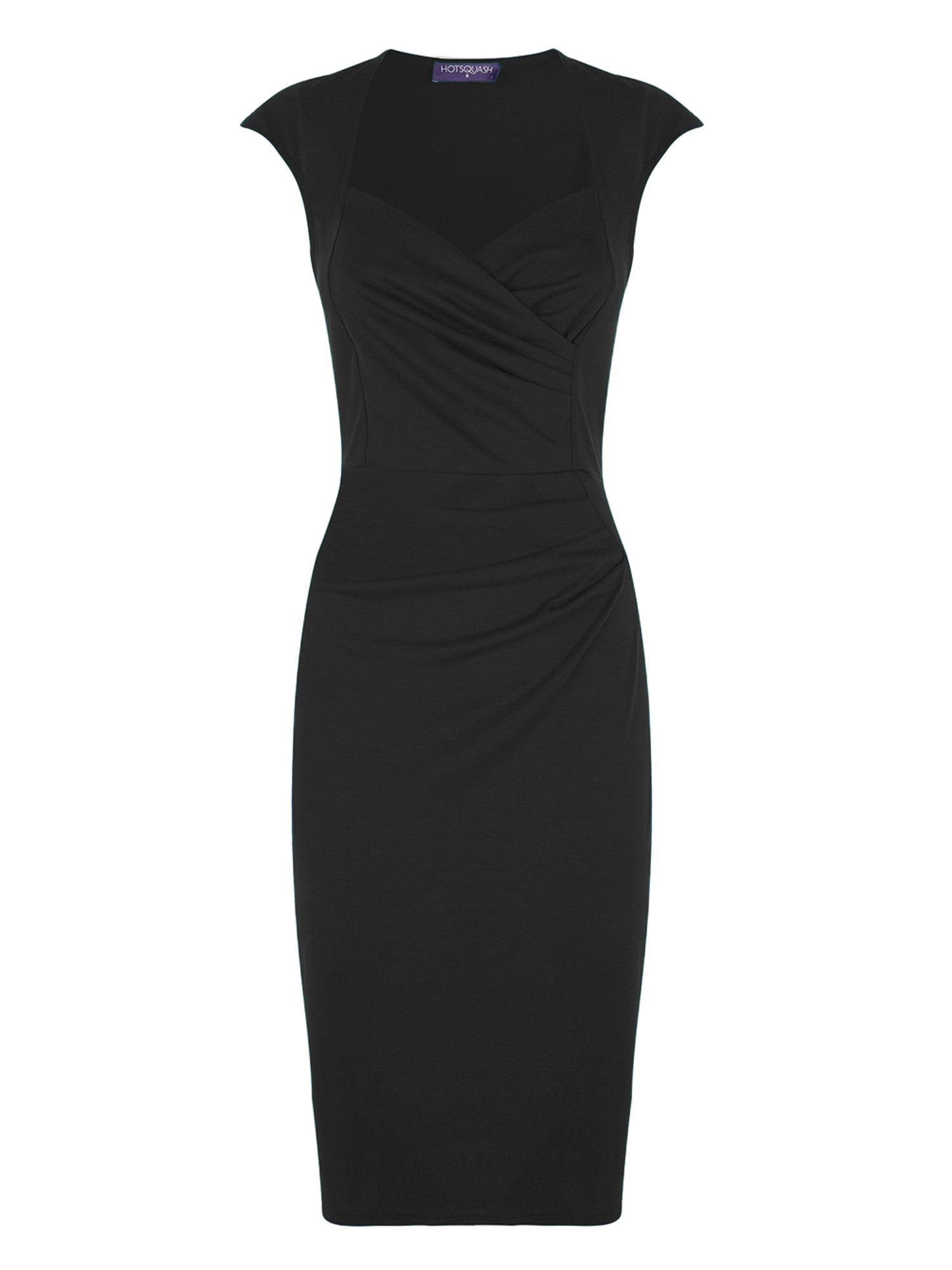HotSquash Short sleeved dress in clever fabric, Black