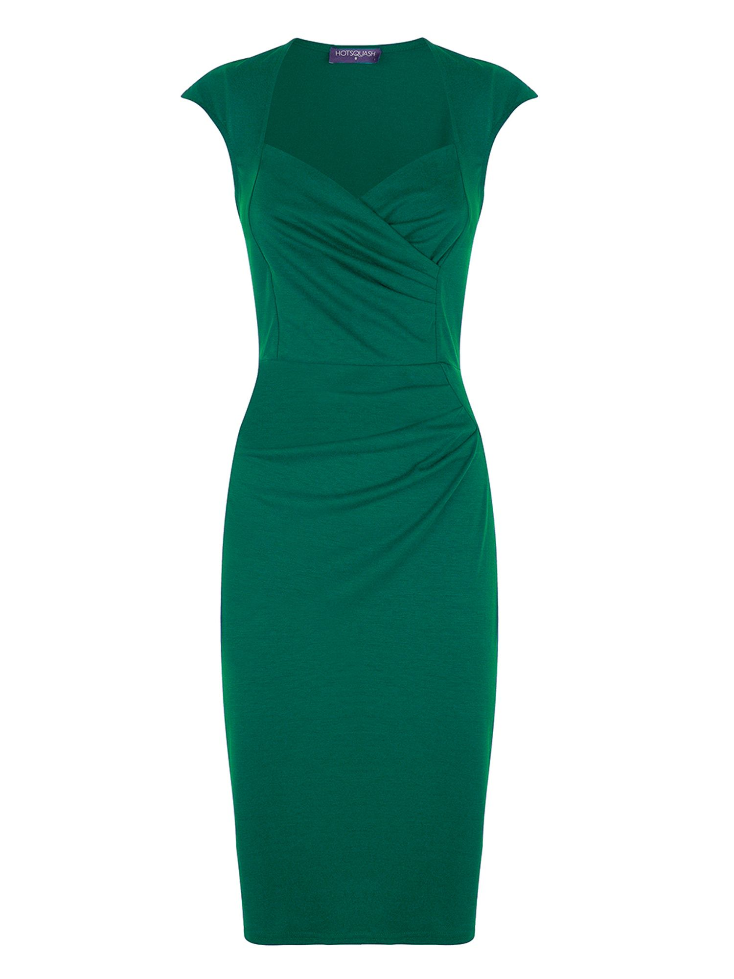 HotSquash Short sleeved dress in clever fabric, Green
