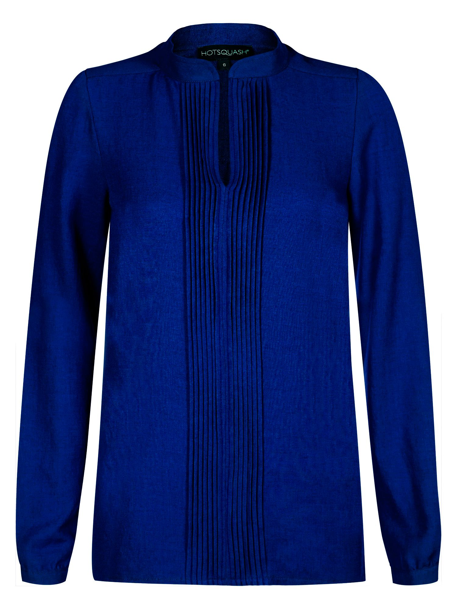 HotSquash Pleat blouse in clever fabric, Blue