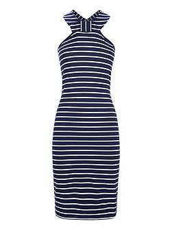 Thames Breton Bow Dress in Clever Fabric