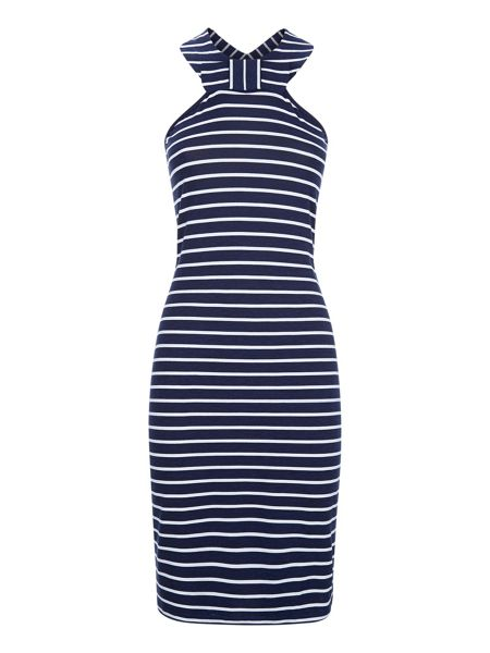 HotSquash Thames Breton Bow Dress in Clever Fabric