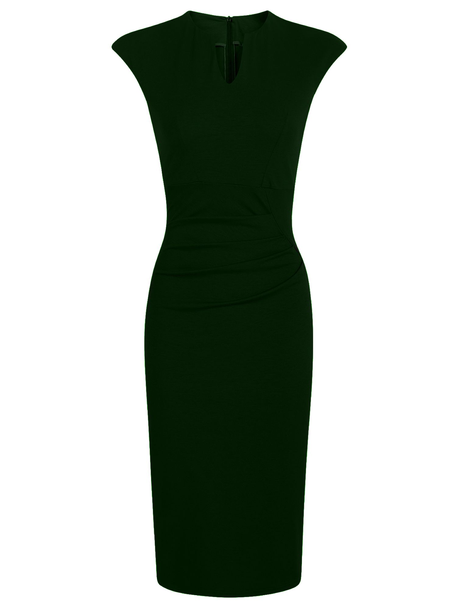 HotSquash Kensington V Cut Jersey Dress, Green