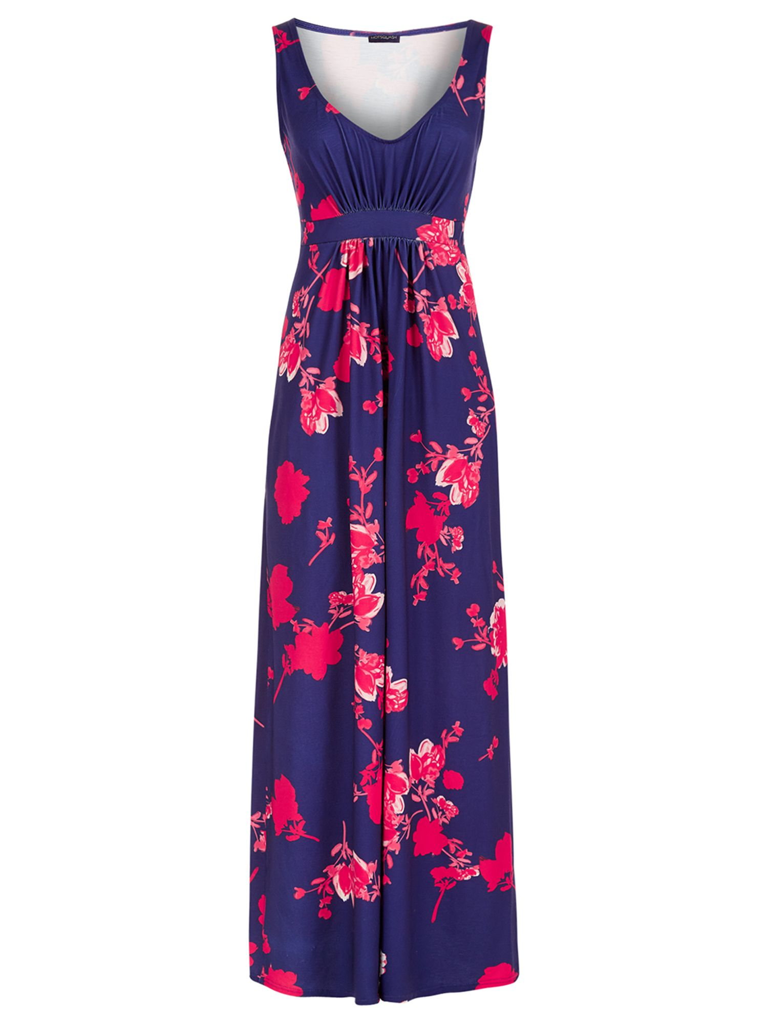 HotSquash Empire Line Jersey Maxi Dress, Blue