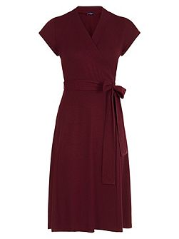 Cap Sleeve Wrap Dress in unique fabric