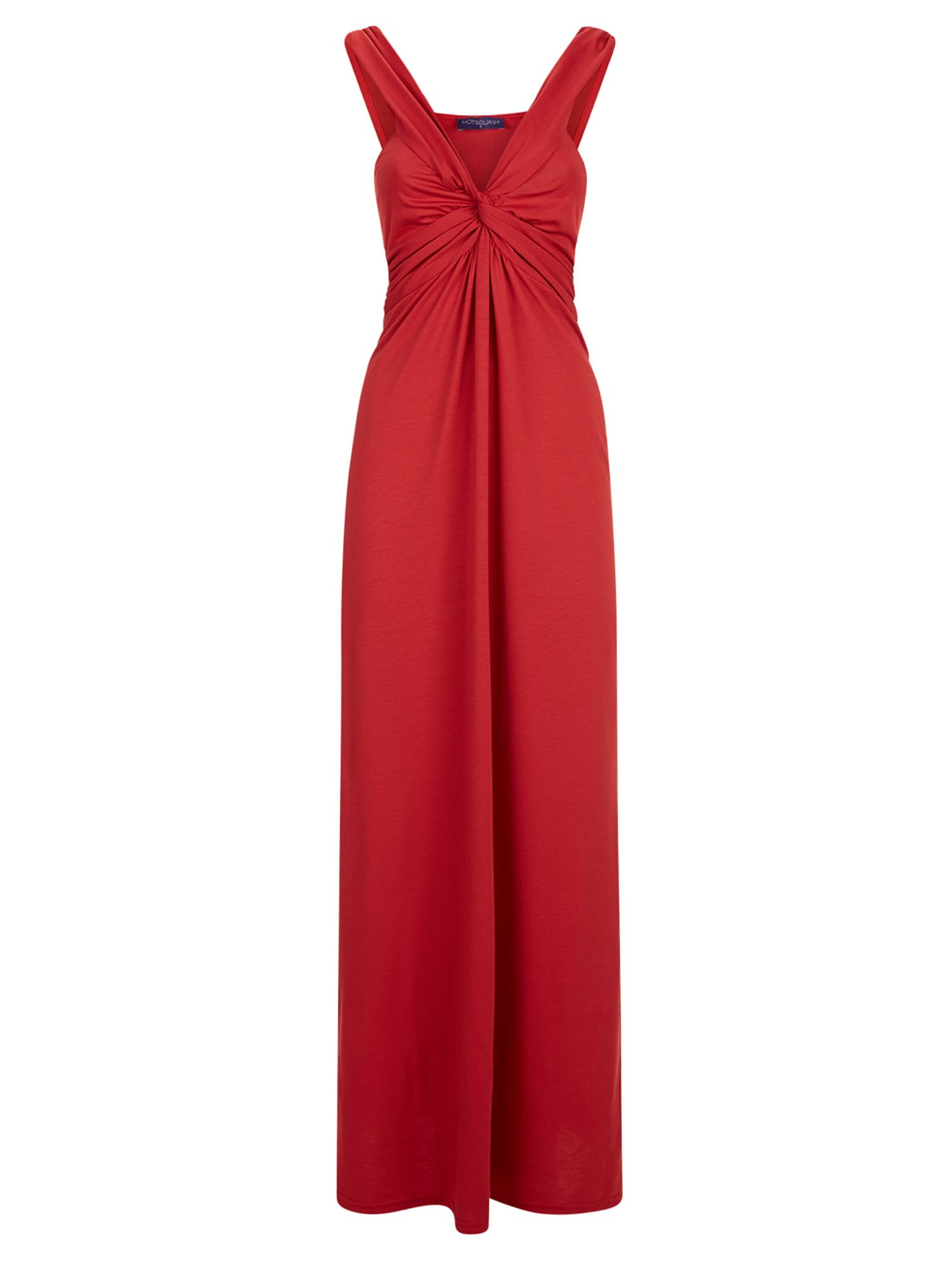 HotSquash Twist Strap Jersey Maxi Dress, Red