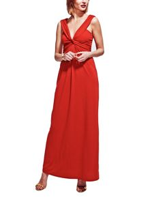 HotSquash Twist Strap Jersey Maxi Dress