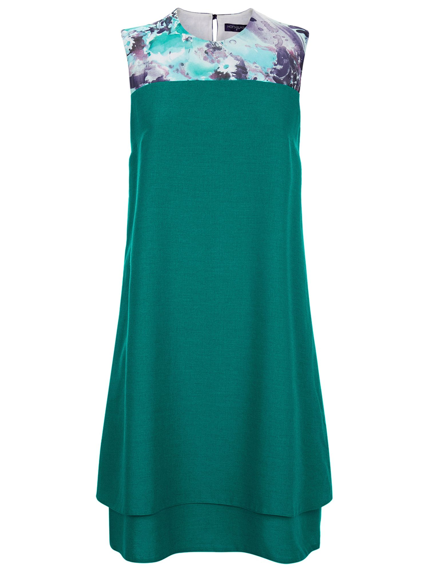 HotSquash Double Layered Dress in CoolFresh, Turquoise