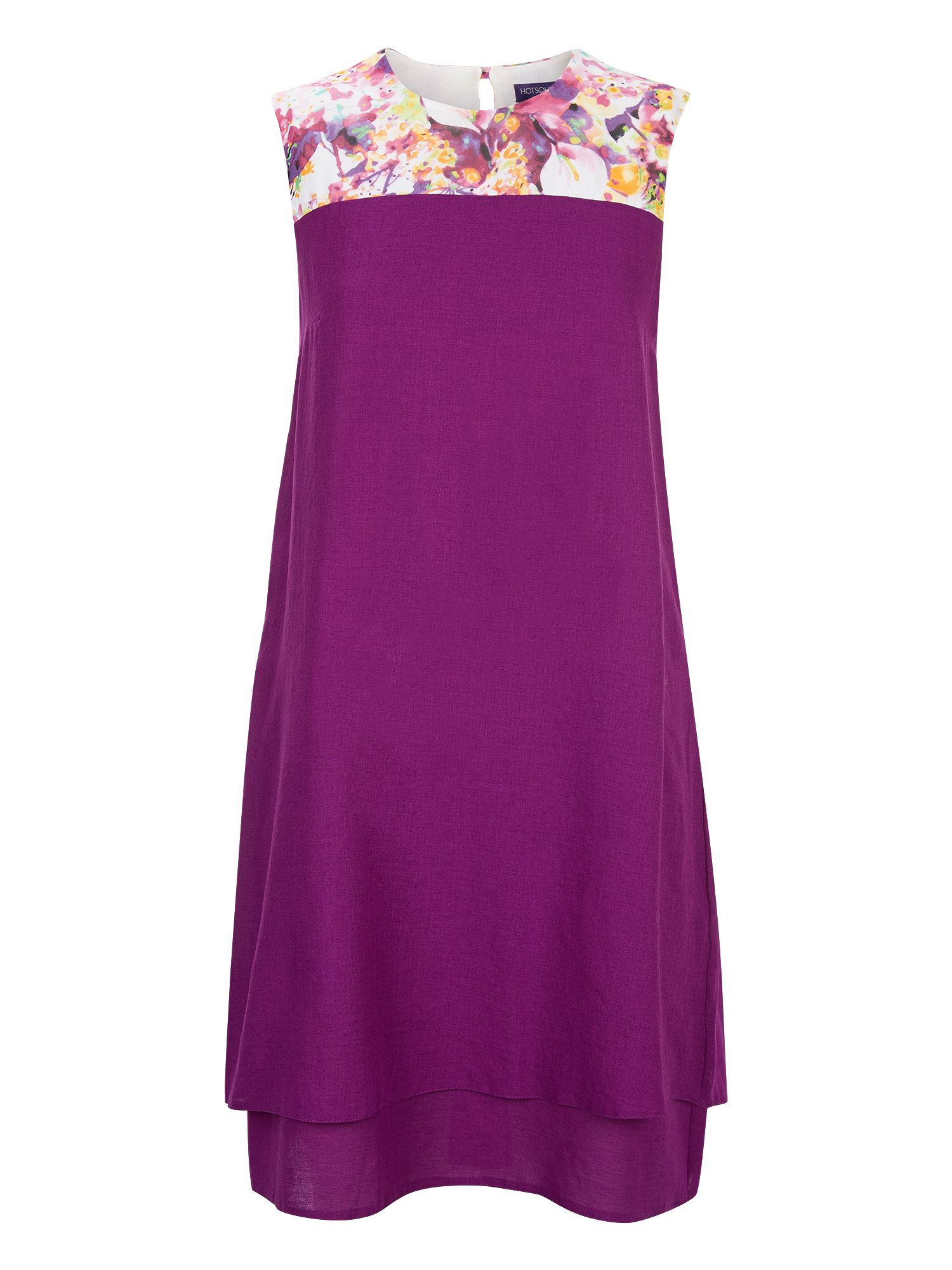 HotSquash Double Layered Dress in CoolFresh, Purple
