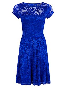 Lace Fit n Flare Dress with Thermal Lini