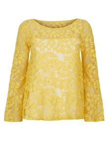 HotSquash Bell Sleeve Leaf Top in CoolFresh Fabric