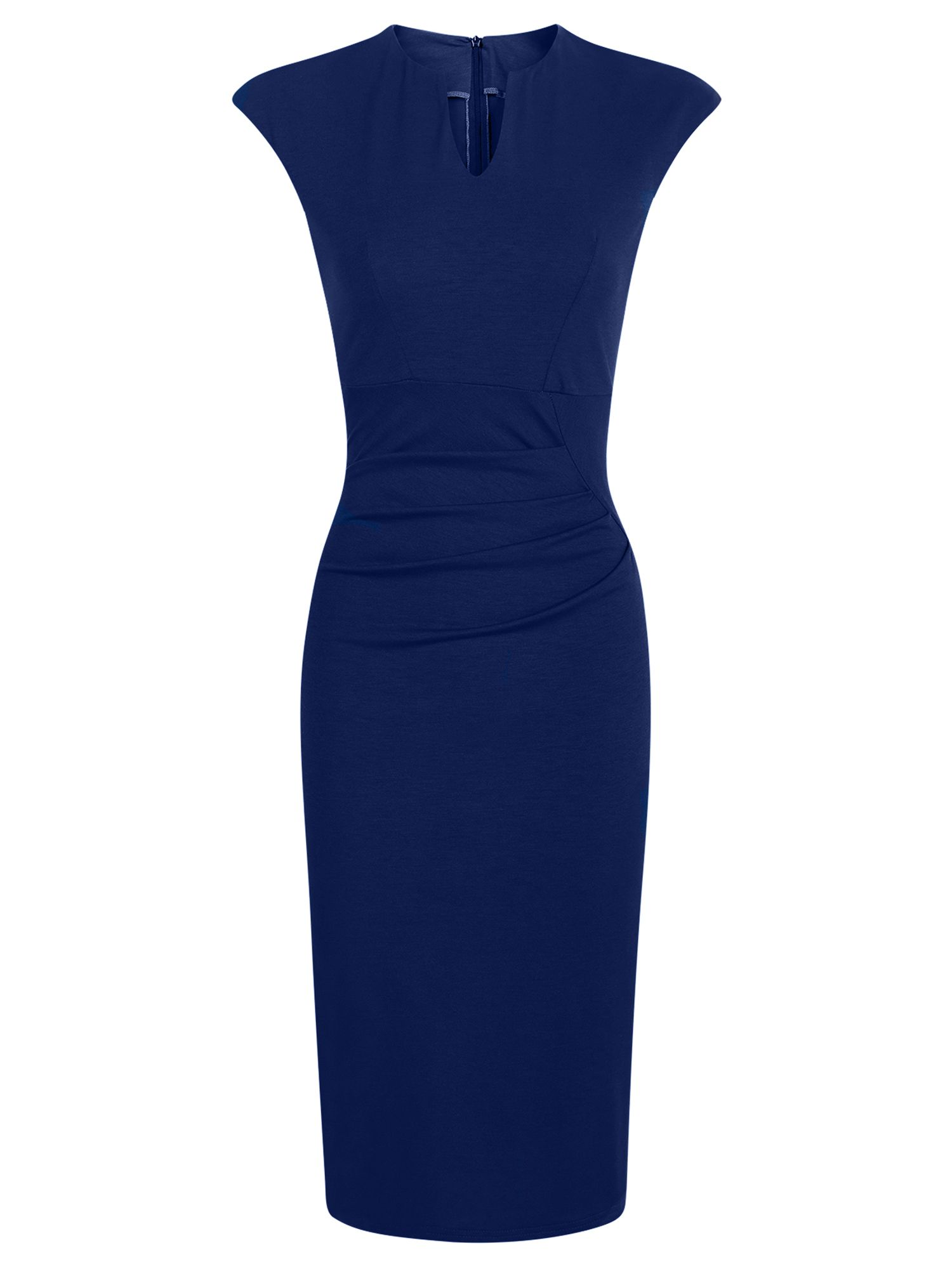 HotSquash Kensington V Cut Jersey Dress, Blue