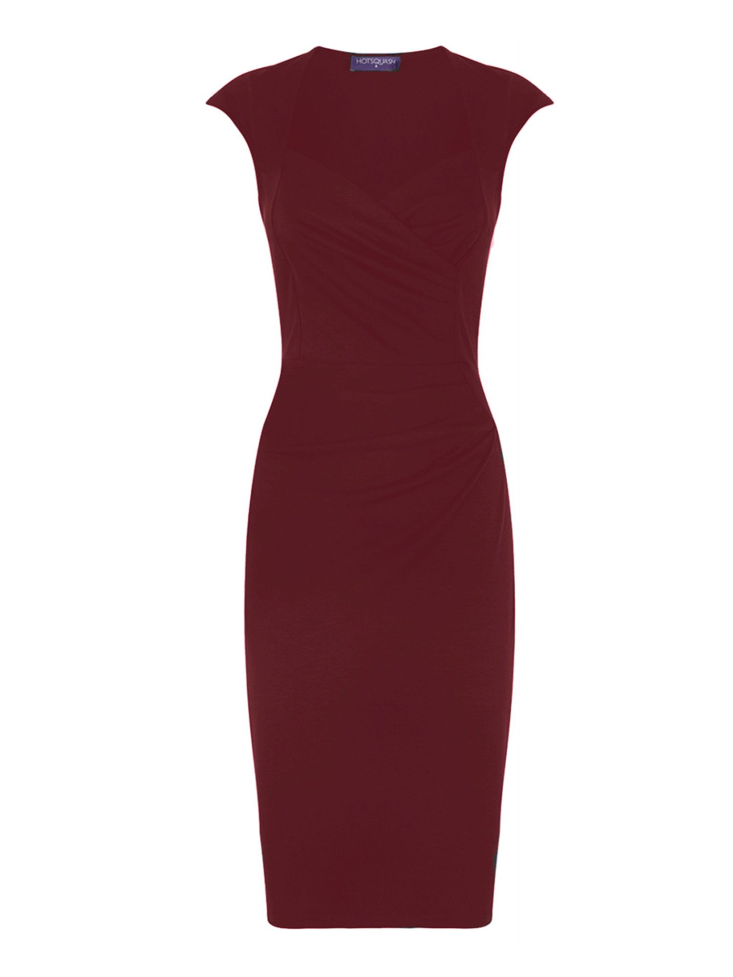 HotSquash Short sleeved dress in clever fabric, Red