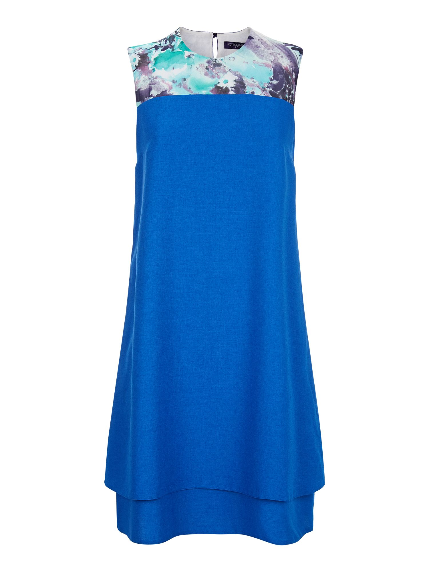 HotSquash Double Layered Dress in CoolFresh, Cobalt