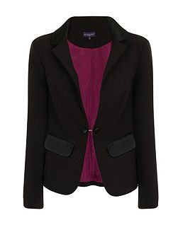 Tuxedo Jacket with Silky Trim