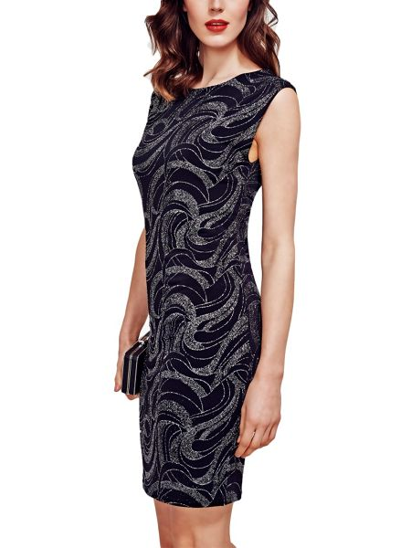 HotSquash Shift Dress With Sparkle in Clever Fabric