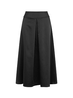Satin Midi Skirt in Clever Fabric